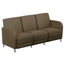 "Parkside Sofa in Faux Leather or Fabric - 69.5""W, 53621"
