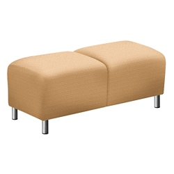 """Parkside Two Seat Bench in Faux Leather or Fabric - 43""""W, 53623"""