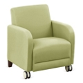 """Parkside Guest Chair with Casters in Faux Leather or Fabric - 27""""W, 53625"""