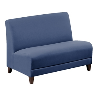 """Parkside Armless Loveseat in Faux Leather or Fabric - 44""""W, 53627"""