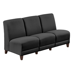 """Parkside Armless Sofa in Faux Leather or Fabric - 64.5""""W, 53629"""