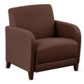 """Parkside Oversized Guest Chair in Leather - 31""""W, 53633"""