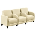 "Parkside Three Seater with Center Arms in Leather - 75.5""W, 53644"