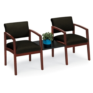 Fabric Two Chairs with Center Table Set, 53666