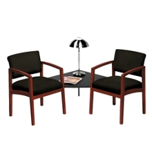 Fabric Two Chairs with Corner Table Set, 53667