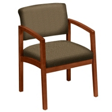 Designer Upholstery Guest Chair with Arms, 53676