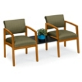 Designer Upholstery Two Chairs with Center Table Set, 53677