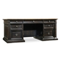 "Executive Desk with Bonded Leather Inlay - 72""W, 14383"