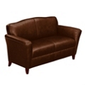 Contemporary Loveseat in Leather, 53790