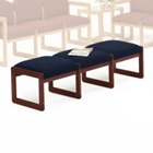 Three Seat Armless Bench - Standard Fabric, 53801
