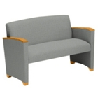 Vinyl Loveseat with Arms, 53899