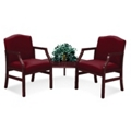2 Chairs and Corner Table in Standard Upholstery, 53963