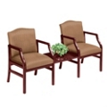2 Chairs & Center Table in Heavy Duty Upholstery, 53967