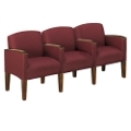 Solid Fabric Belmont Three Seater with Center Arms, 53974