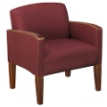 Large Guest Chair in Solid Fabric, 53977