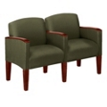 Two-Seat Sofa in Print Fabric or Vinyl, 53983