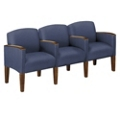 Three Seat Sofa in Print Fabric or Vinyl, 53984