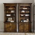 "Set of Two Six Shelf Bookcases with Doors - 85.25""H, 32160"