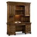 Computer Credenza with Desktop Power and Hutch, 10175