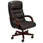 Leather High Back Chair, 55195