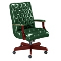 Traditional Vinyl Mid Back Chair, 55215