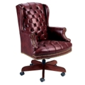 Traditional High Back Executive Leather Swivel Chair, 55283