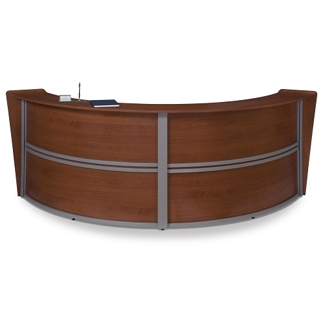 "Marque Double Reception Station - 124.25""W x 49""D, 75389"