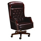 Traditional High Back Leather Judge's Chair, 55384