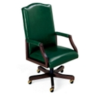Traditional Vinyl High Back Chair, 55405