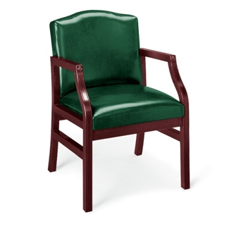 Traditional Vinyl Guest Chair with Arms, 55406