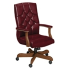 Traditional Vinyl High Back Chair, 55421