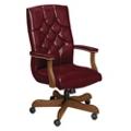 Traditional Vinyl High Back Chair, 55421