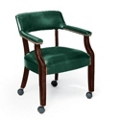 Mobile Leather Captain's Chair, 55424