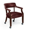 Mobile Vinyl Captain's Chair, 55423