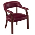 Cambridge Collection Captain's Chair in Leather, 55571