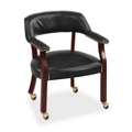 Cambridge Collection Captain's Chair with Casters in Leather, 55572