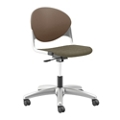 Plastic Back Armless Task Chair with Platinum Metallic Frame, 56244