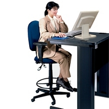High Back Ergonomic Stool with Arms, 56325