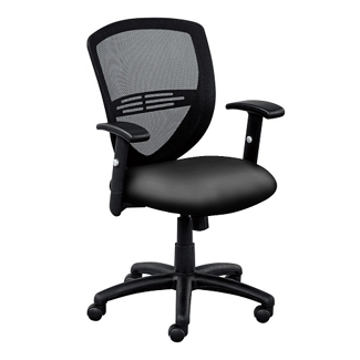 Network Mesh Back Faux Leather Seat Task Chair, 56399