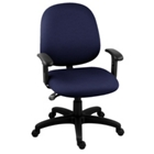Fabric Mid-Back Ergonomic Task Chair, 56437