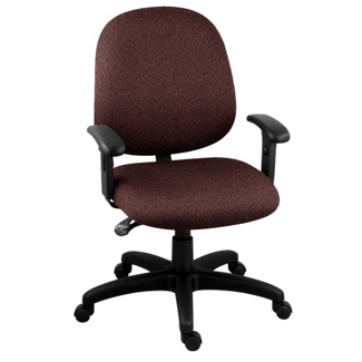 Fabric Mid-Back Ergonomic Task Chair, 56437