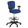 Mid Back Stool in Anti-Bacterial Vinyl with Arms, 56495