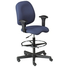 Ergonomic Stool with Arms in Standard Fabric, 56522