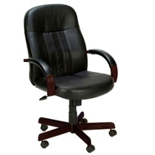 Hardwood Frame Bonded Leather Computer Chair, 56712