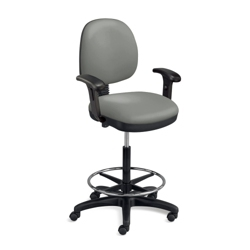 Low Back Ergonomic Stool with Arms, 56780