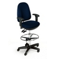 High Back Ergonomic Stool with Arms, 56781