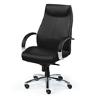 High-Back Executive Leather Chair with Chrome Frame, 56852