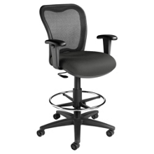 Mesh Back Stool With Foot Rest, 56907