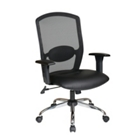 Mesh Back Chair with Leather Seat, CD03246