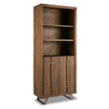 "Solid Wood Doored Bookcase with Butterfly Joinery - 80""H, 32176"